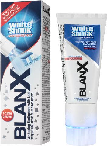 WHITE SHOCK משחת שיניים להלבנה באמצעות אור לד