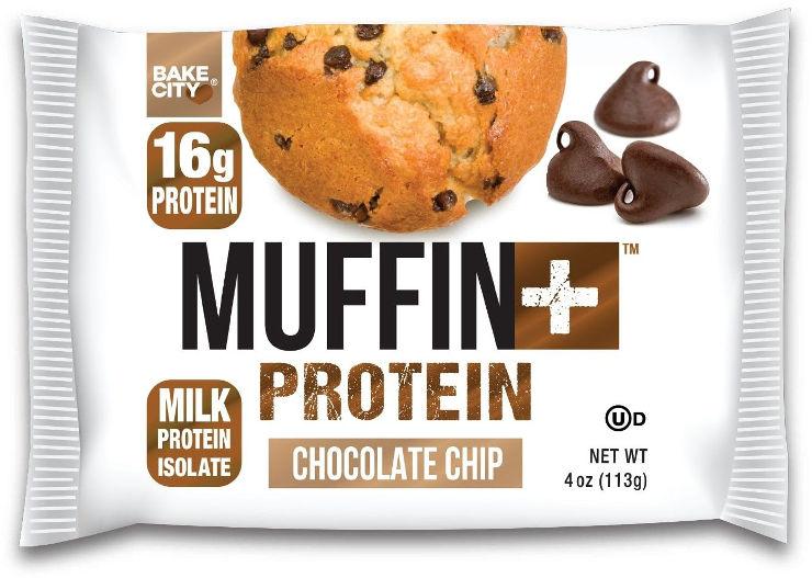 מאפין בטעם שוקולד ציפ בתוספת חלבון