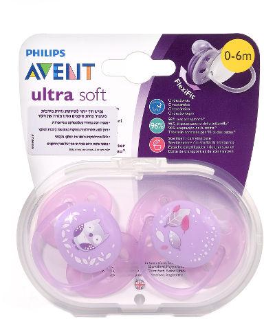 ULTRA SOFT מוצצים 0-6 חודשים