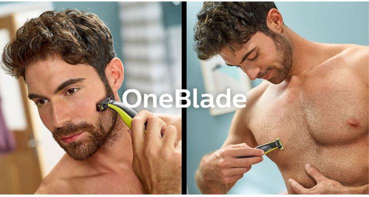 ONE BLADE, מכשיר לעיצוב זיפים וגילוח פנים וגוף 45 דקות טעינה