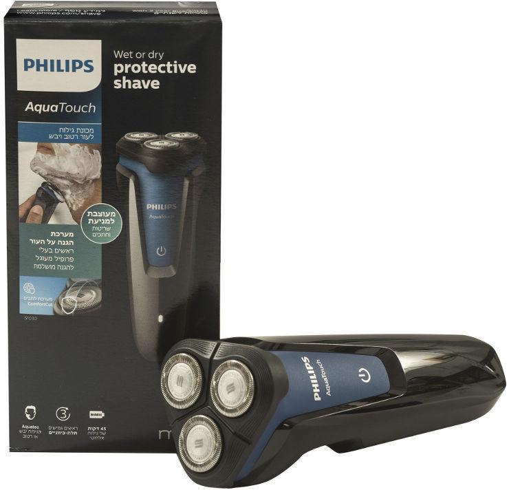 פיליפס מכונת גילוח לעור רטוב ויבש
