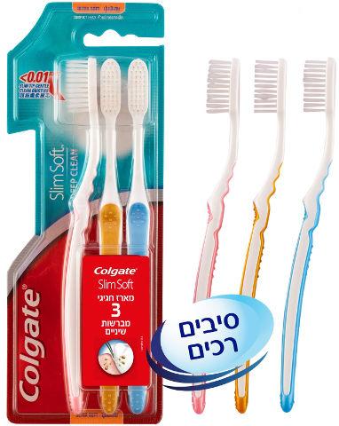 מברשת שיניים סלים סופט לניקוי עדין ועמוק
