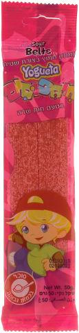 חיספוסים- ממתק חמוץ בצורת שטיח בטעם תות