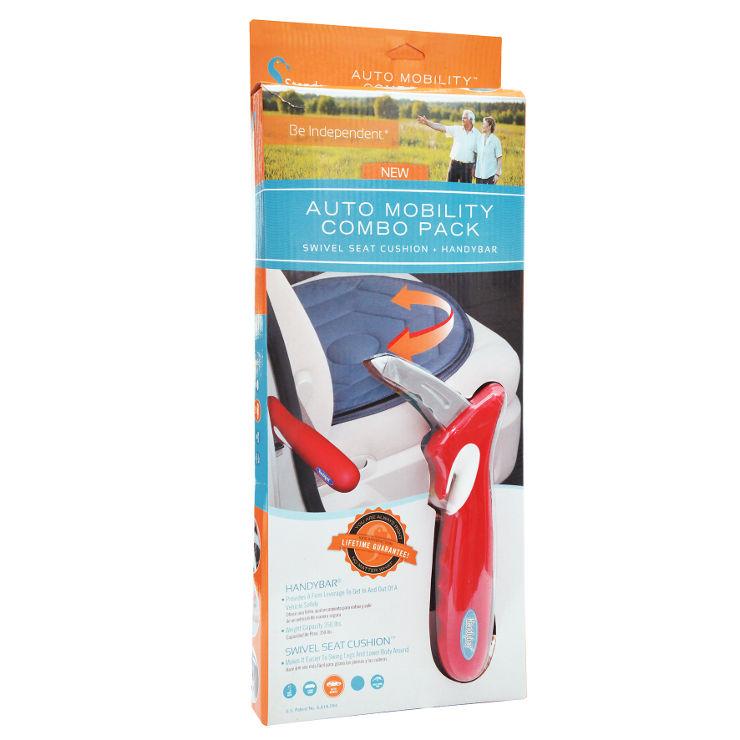 כרית מושב מסתובבת וידית ניידת - סט עזר לישיבה ויציאה מהרכב Auto solution