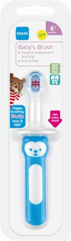 מברשת שיניים לתינוקות 6+ חודשים תכלת