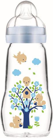 בקבוק זכוכית בטוח ועמיד בפני שינוי טמפרטורה תכלת