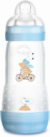 בקבוק הזנה לתינוק התחלה קלה בלי גזים 4+ תכלת