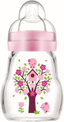 בקבוק זכוכית בטוח ועמיד בפני שינוי טמפרטורה ורוד