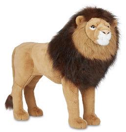 melissa and doug בובת אריה רכה ענקית