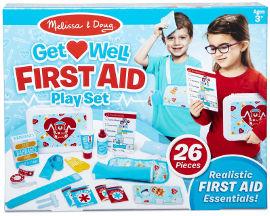 melissa and doug ערכת משחק עזרה ראשונה לילדים