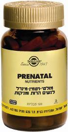 סולגאר מולטי-ויטמין-מינרל לנשים הרות ומניקות