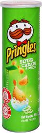 פרינגלס חטיפי צ'יפס מתפוחי אדמה בטעם שמנת בצל