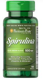 "Puritan's Pride ספירולינה 500 מ""ג"