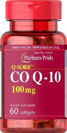 "Puritan's Pride Q10 קו-אנזים 100 מ""ג  Q-SORB"