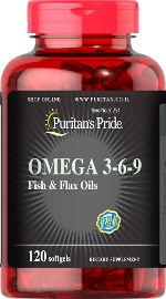 Puritan's Pride אומגה 3-6-9 שמן דגים ופשתן