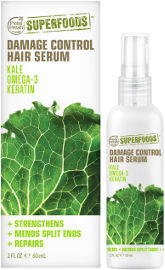 SUPERFOODS סרום טבעוני לשיער ניזוק מועשר בקייל, קרטין ואומגה 3