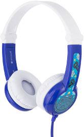 BuddyPhones אוזניות חוטיות עם הגבלת עוצמה לילדים - כחול Connect