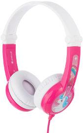 BuddyPhones אוזניות חוטיות עם הגבלת עוצמה לילדים - ורוד Connect