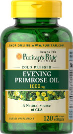 """Puritan's Pride שמן נר הלילה 1000 מ""""ג"""