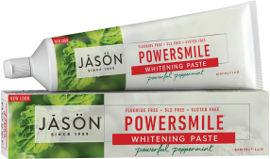ג'ייסון משחת שיניים מנטה עוצמתית ללא פלואריד ללא SLS ללא חומרים משמרים