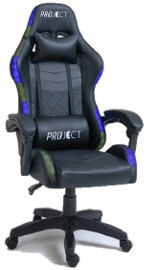 YKI כסא גיימינג מפואר אדום עם תאורת לד