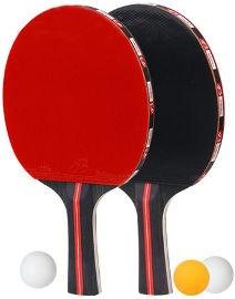YKI זוג מחבטי פינג פונג + 4 כדורי טניס שולחן