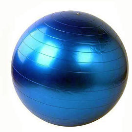 "YKI כדור פיזיו כסוף 55 ס""מ + משאבת רגל"