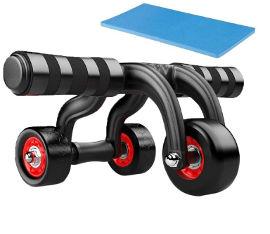 ATX FITNESS גלגל בטן משולב PUSH-UP עם 3 גלגלים