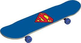 YKI סקייטבורד מעץ סופרמן