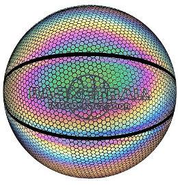 YKI כדורסל מס 5 מחזיר אור צבע כהה GLOW BALL