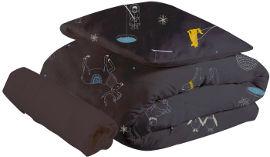 ndoto סט מצעים למיטת תינוק שחור מתחת לאפס