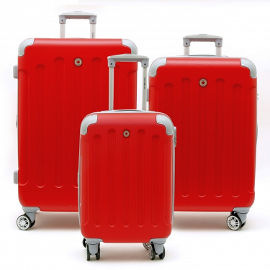 Travel Club סט 3 מזוודות קשיחות