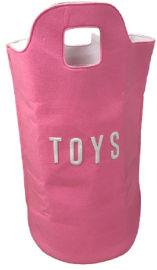 Hilis סל אחסון ענק לצעצועים בצבע ורוד