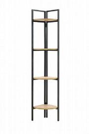 Tudo Design כוננית פינתית מעוצבת עשויה מתכת בשילוב עץ דגם עדה