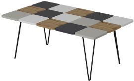Tudo Design שולחן סלון בעיצוב פסיפס עם רגלי ברזל יצוק דגם LEAF