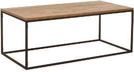 Tudo Design שולחן סלון מברזל בשילוב משטח עץ תעשייתי דגם פלג