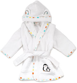 Little Penguin חלוק רחצה לילדים - נקודות