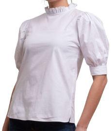 ביאנקה חולצה לבנה עם צווארון ויקטוריאני דגם Emily