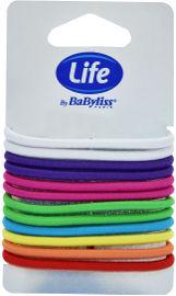 Life BaByliss גומיות שיער גדולות צבעי קשת