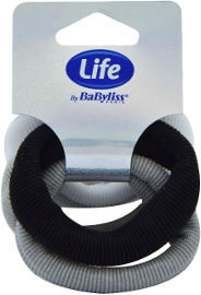 Life BaByliss גומיות ספוג שחור לבן