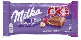 מילקה שוקולד חלב עם צימוקים ואגוזים