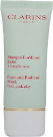 CLARINS PINK CLAY PURE AND RADIANT מסכה מטהרת מראה זוהר