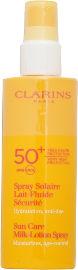 CLARINS SUN CARE תחליב הגנה גבוה SPF50 לפנים ולגוף