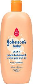 ג'ונסונס בייבי 2 ב-1 אל סבון וקצף אמבט