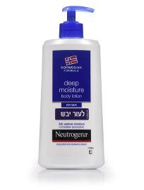 ניוטרוג'ינה תחליב גוף לעור יבש לחות ל 24 שעות