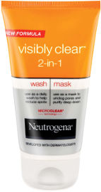 NEUTROGENA  VISIBLY CLEAR תרחיץ ומסכה