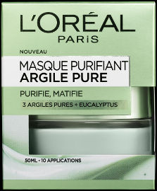 L'OREAL PARIS PURE CLAY מסכת חימר לטיהור העור