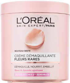L'OREAL PARIS RARE FLOWERS קרם להסרת איפור לעור יבש עדין ורגיש