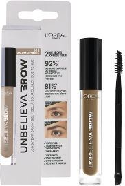 L'OREAL PARIS UNBELIEVA BROW ג'ל לגבות עמיד 103