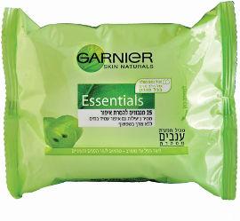 GARNIER ESSENTIALS מגבונים לעור רגיל/מעורב